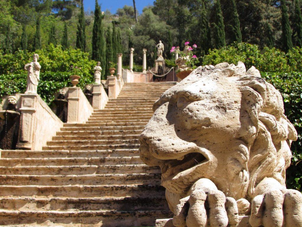 Jardín de Apolo en la posesión de Raixa