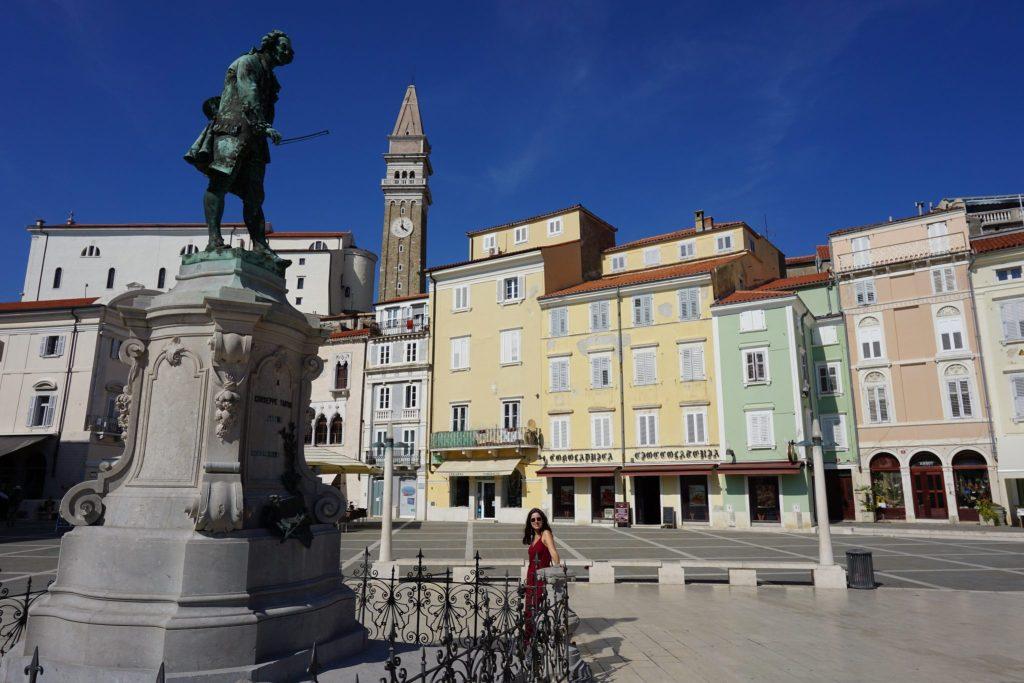 Plaza Tartini en Piran