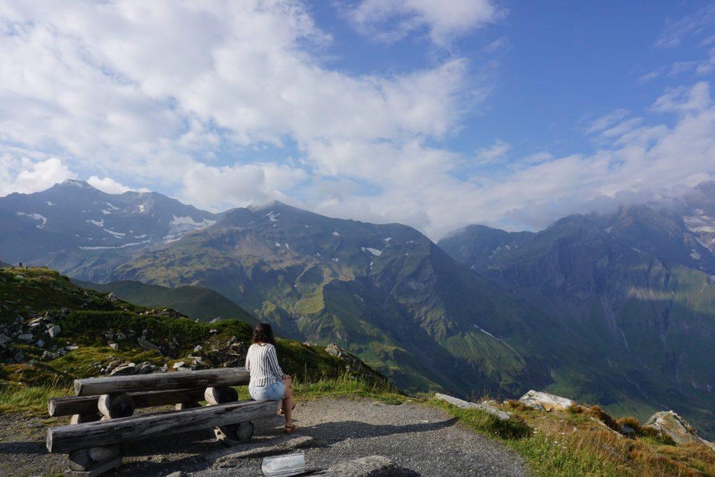 Vistas de la carretera alpina Grossglockner