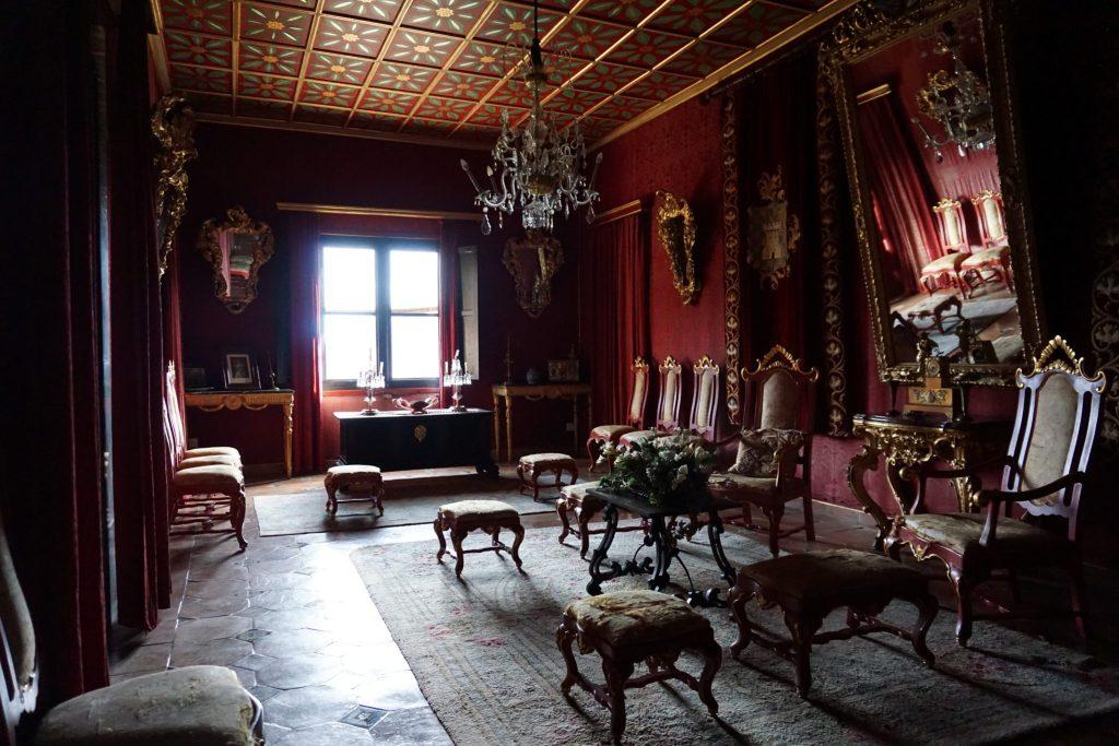 Una de las salas del Palacio del Rey Sancho