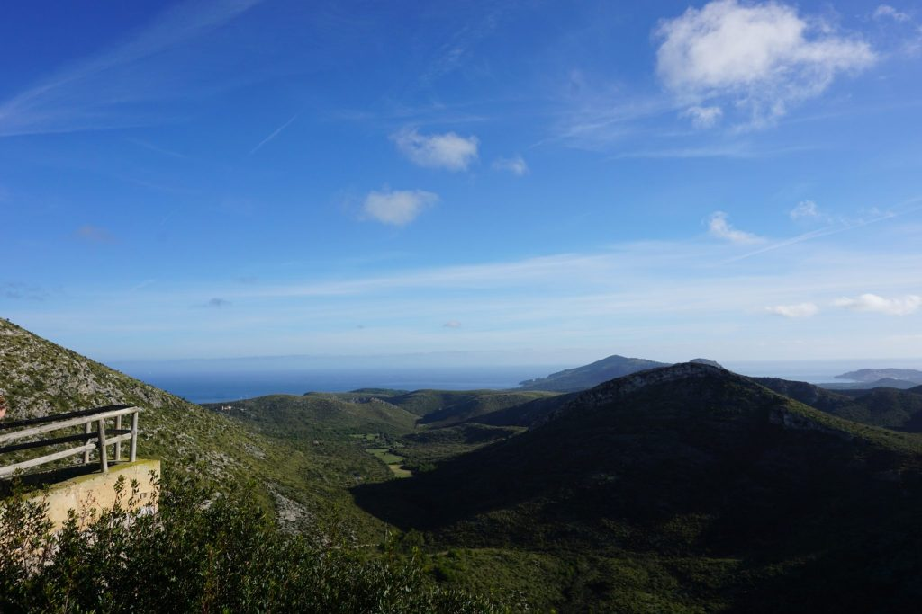 Mirador del Parque Natural de la Península de Llevant
