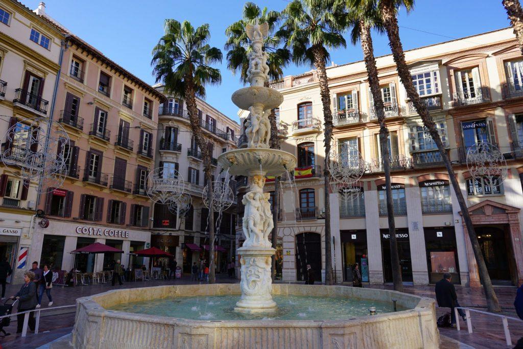 Fuente de Génova en la Plaza de la Constitución, Málaga