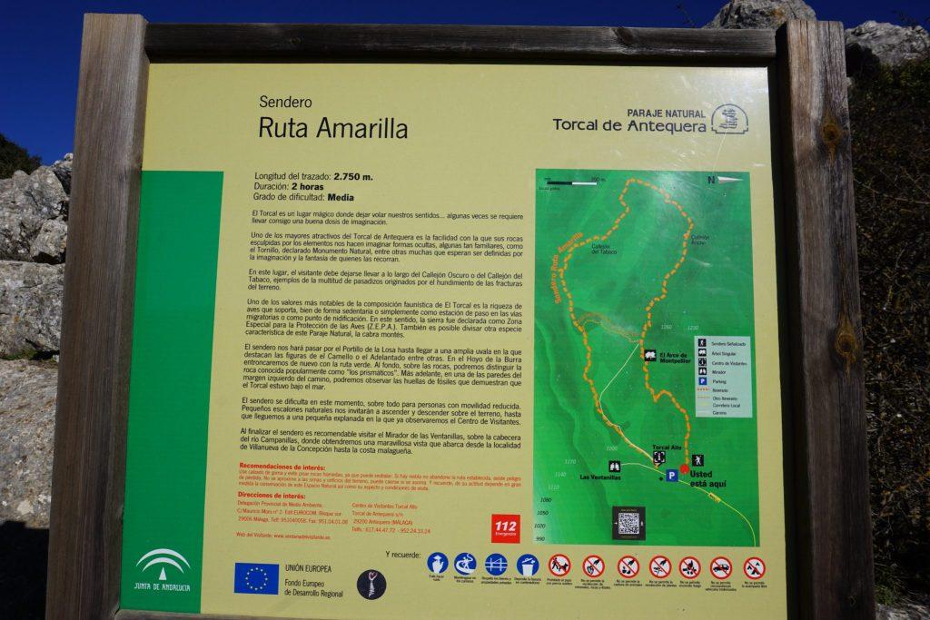 ruta amarilla torcal de antequera