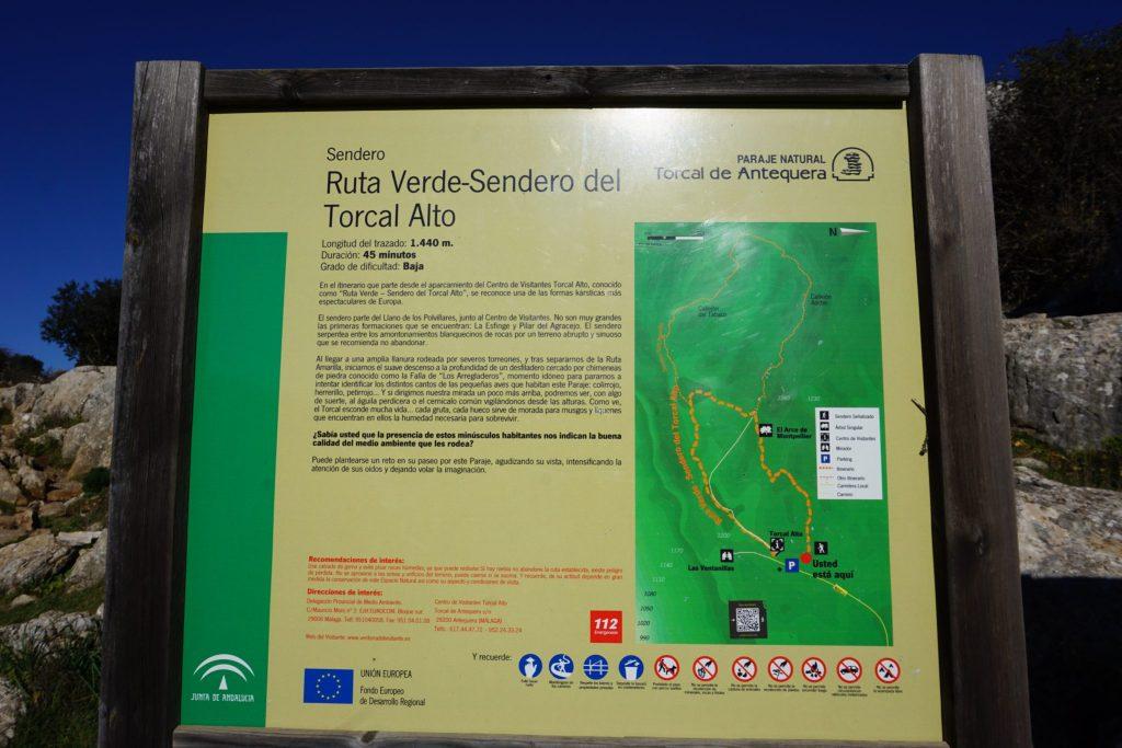 Ruta verde - Sendero del Torcal Alto