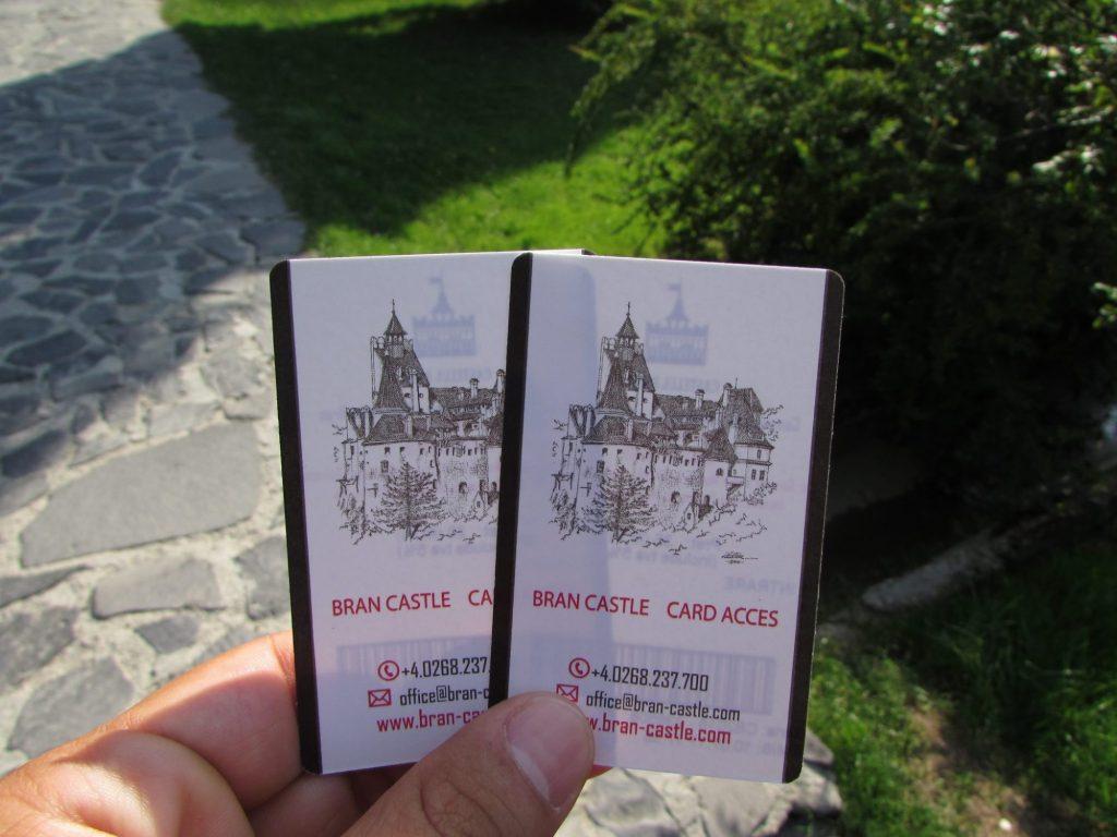 Entradas para el castillo de dracula en Bran, Transilvania (Rumania)