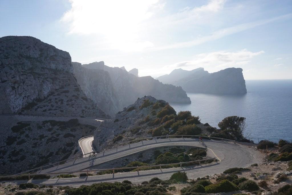 Carretera que va al faro de Formentor