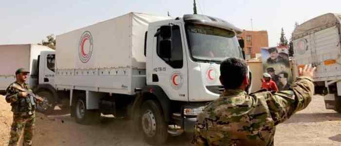 50 طن مساعدات إنسانية فرنسية للغوطة الشرقية بعد اتفاق مع روسيا