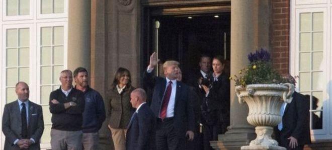 ترامب يلعب الجولف في اسكتلندا وسط احتجاجات مستمرة ضده