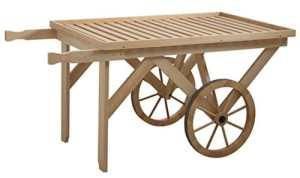 Chariot en bois, L 145 x P 78 x H 71 cm -PEGANE-