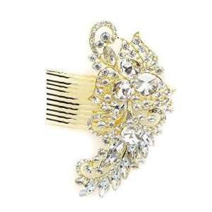Strass Mariage Peigne À Cheveux by Lizzy – Femme, Or, Taille Unique