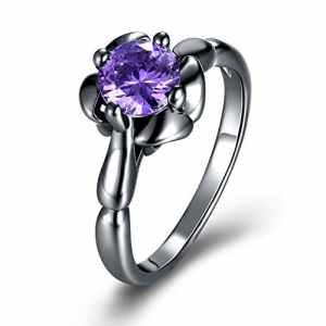 YXYP Impression 1Pcs Anneau élégant anneau de mode accessoires de bijoux fille cadeau de Saint Valentin anneau de mariage bague de luxe anneau romantique Anneaux B