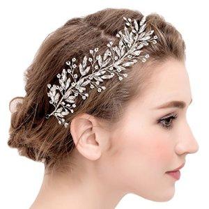 Fleurs de vigne mariée bandeaux perle et cristal mariage coiffes d'argent