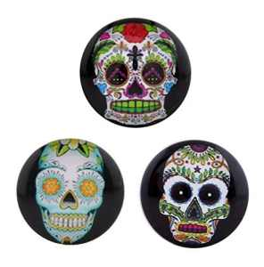 Morella click-button Lot de 3boutons pression pour bijou mexicon Skull