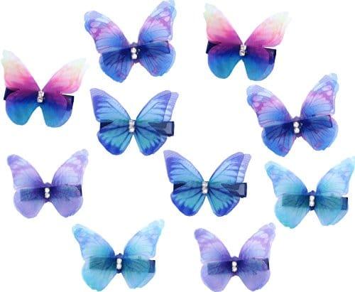 luxuriant dans la conception plus près de grand choix de 2019 10 Pcs Femme Bébé Fille Pinces à cheveux strass papillon ...