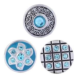 Morella click-button Lot de 3boutons pression pour bijou Turquoise monde