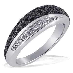 Goldmaid – Pa R4173S54 – Black & White – Bague Femme – Argent 925/1000 5.0 gr – Oxyde de Zirconium – 42 noirs et 8 blancs – T 54