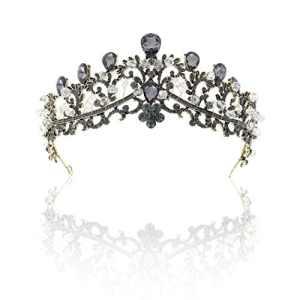 Simsly vintage Tiare de mariage mariée Fleur couronnes pour femme ( Doré ) Hg-26