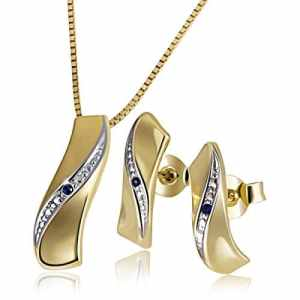 Goldmaid – Parure – Or jaune – Saphir