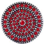 Morella bouton pression click button lot de 6 verres forme d'étoile rouge en forme de cœur argent