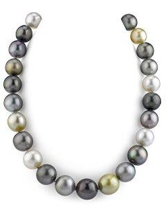 14-16,8 mm mer du sud Les perles de culture Collier multicolore