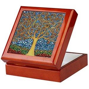CafePress Boîte à Souvenirs My Tree Life