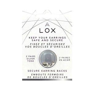 Fermoir sécurisé Boucles d'oreille hypoallergénique LOX, Aloxia. Couleur Argent. 2 paires
