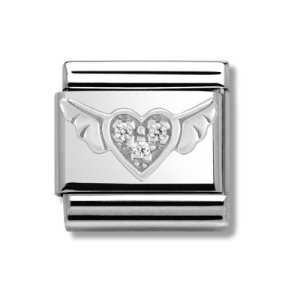 Nomination – 330304/12 – Maillon pour bracelet composable Femme – Acier Inoxydable- Oxyde de Zirconium