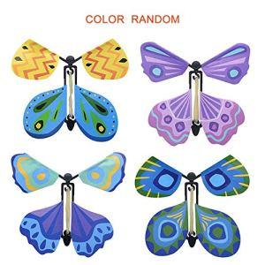Peanutaor Créatif Volant Papillon Roman Enfants Accessoires Magiques Jouet pour Enfants Drôle Jeux Gadgets Jouet Éducatif Couleur Aléatoire