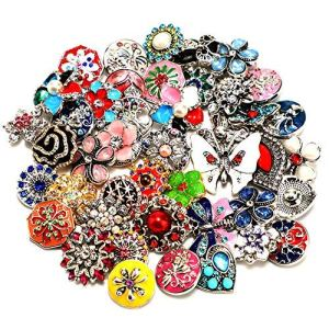 Soleebee Mixte 18-20mm Alliage Strass Boutons Pression Bijoux Charms Accessoires Bricolage 45pcs