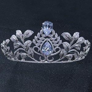 CYY Luxueuse mariée atmosphérique Grande Couronne Rhinestone Zircon chapellerie de Mariage Mme Couronne de Vacances d'anniversaire