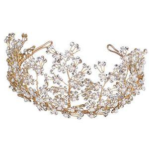 SMLZV Tête De Cristal De Diamant Mariée De Mariée Cheveux Bandeau Porter des Bijoux De Strass Coiffe Bandeau Tiara Coronal