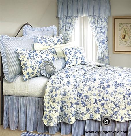 Brighton Toile Elegant Williamsburg Design Quilt 100 Cotton Pre Washed And Pre Shrunk