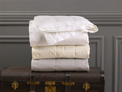 Lightweight Down Blanket Is Designed For Year Round Use 230 Thread Count 100 Cotton With 5