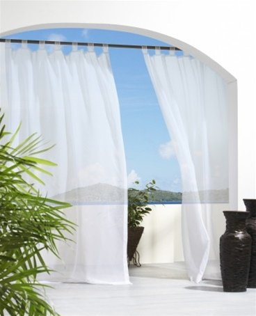 Outdoor Sheer Curtain Panels Are Machine Washable Water Repellent Mildew Resistant And Fade