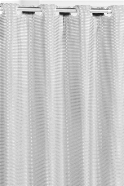 waffle fabric hookless shower curtain w liner white