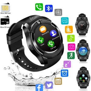 Smart Watch V8 Reloj Inteligente Bluetooth Camara Redondo 360