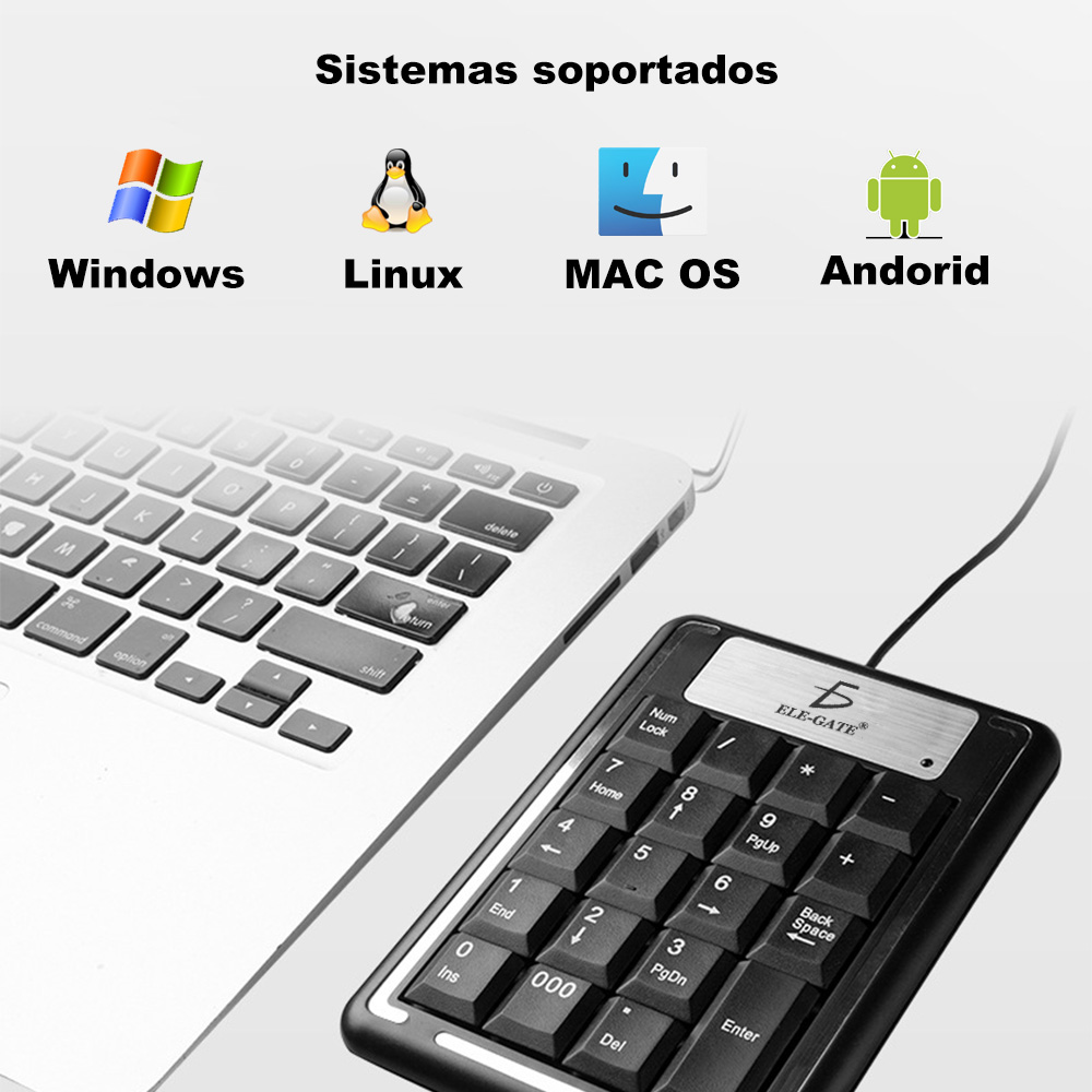 Teclado Numerico Usb Pc Laptop Computadoras Mac Windows