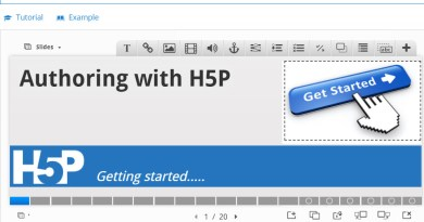 Screen capture of the H5P Course Presenter