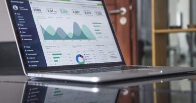 Data on laptop