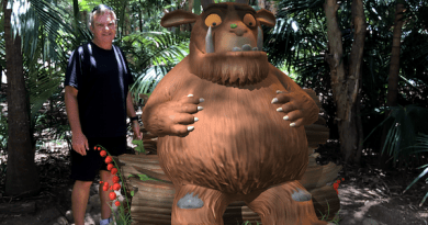 Stuart with the Gruffalo