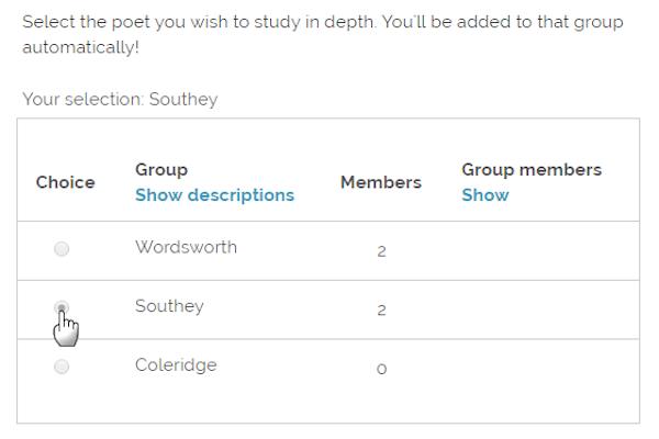 Moodle Group Choice plugin