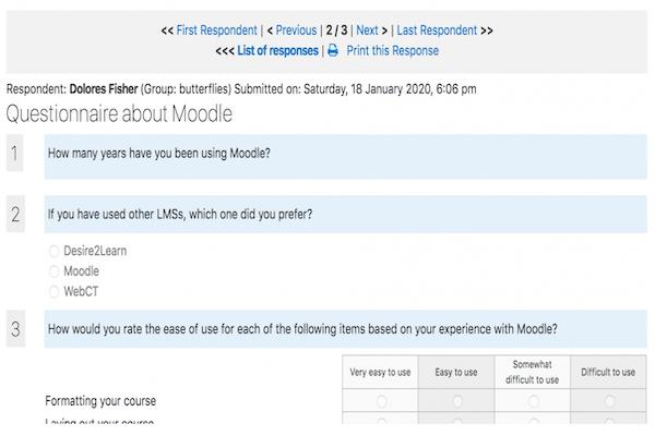 Moodle Questionnaire plugin