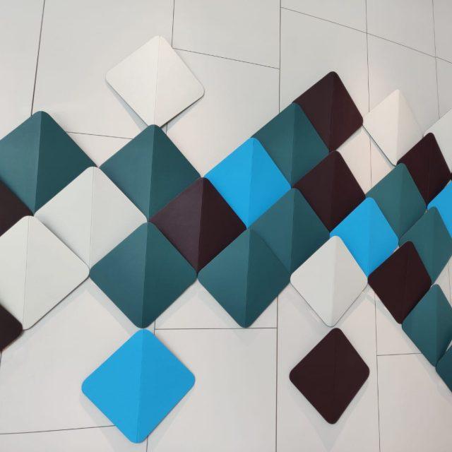 eLeather wall display