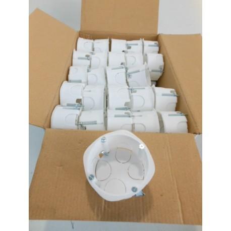 boite encastrement ronde o 65mm cloison seche profondeur 40mm lot de 300 blanche visae50139