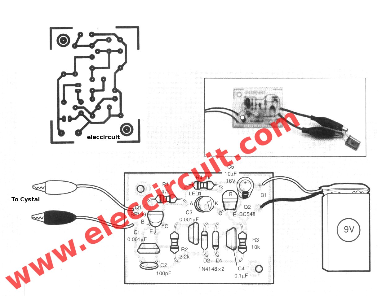 Crystal Tester Circuit With Pcb