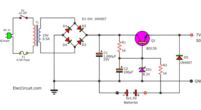 simple ups circuit diagram  eleccircuit