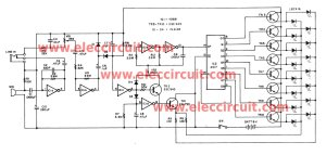 Christmas LED flasher circuit controlled by audio