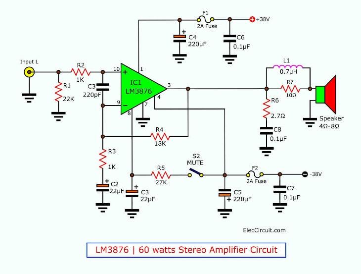 Audio Power Amplifiers Schematic Diagram Watt Wifi Amplifier Circuit