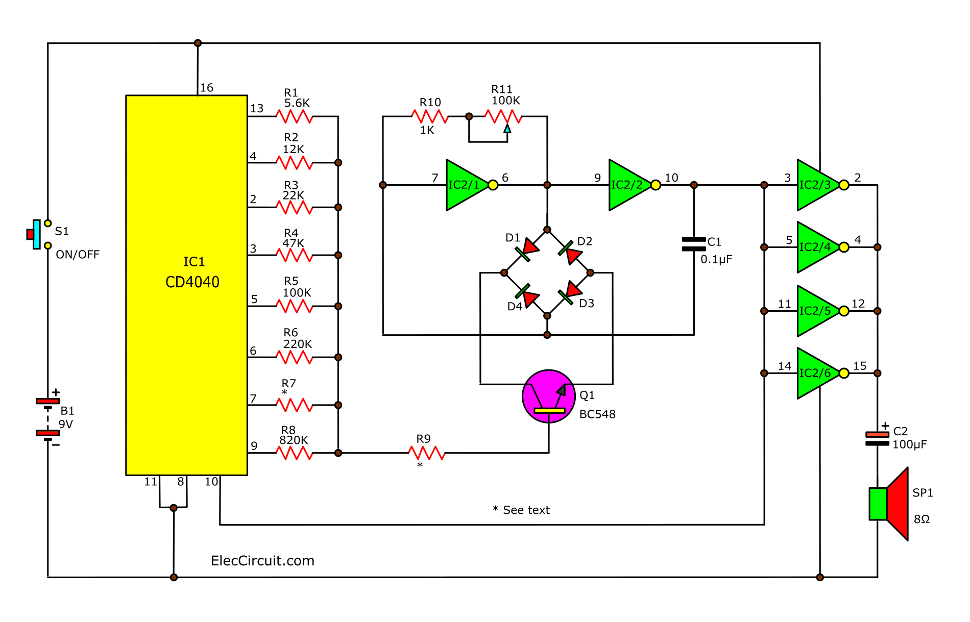 Sound Effect Generator Circuit Using Cd