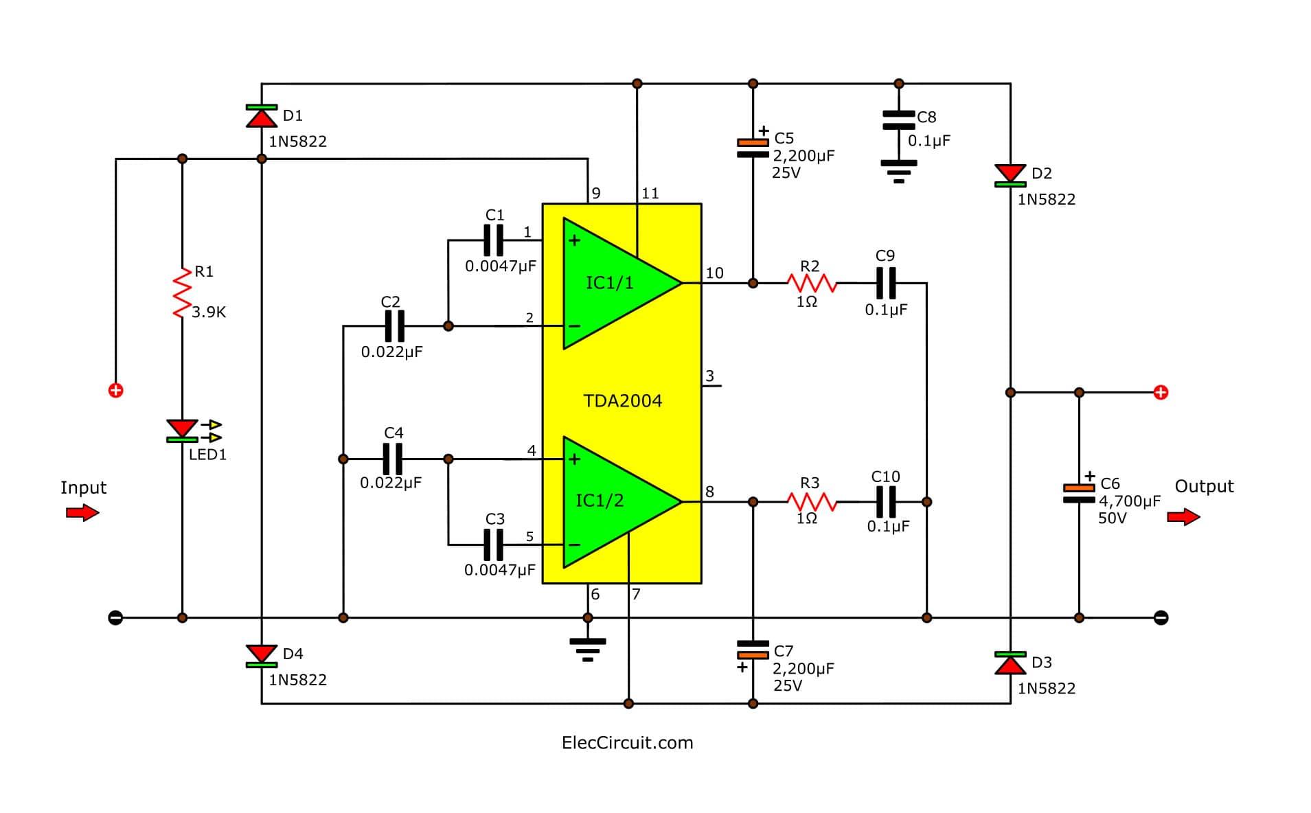 Simple Dc Power Supply Schematic Diagram